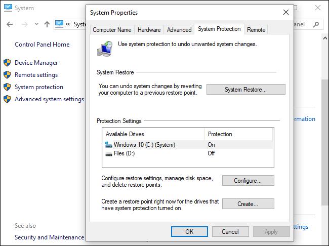 برنامج استعادة النظام ويندوز 7