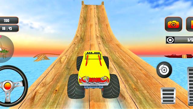 Monster Truck Water Surfer Jump Stunt Racing - apk download   Gadi Game