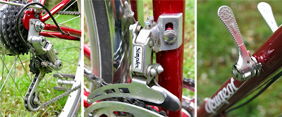 Simplex derailleur and retrofriction lever