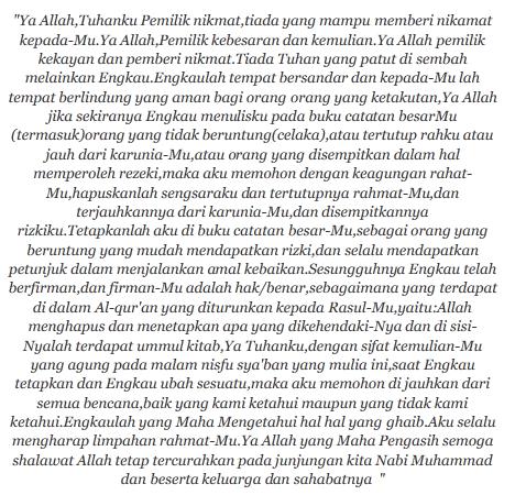terjemahan doa nisfu syaaban