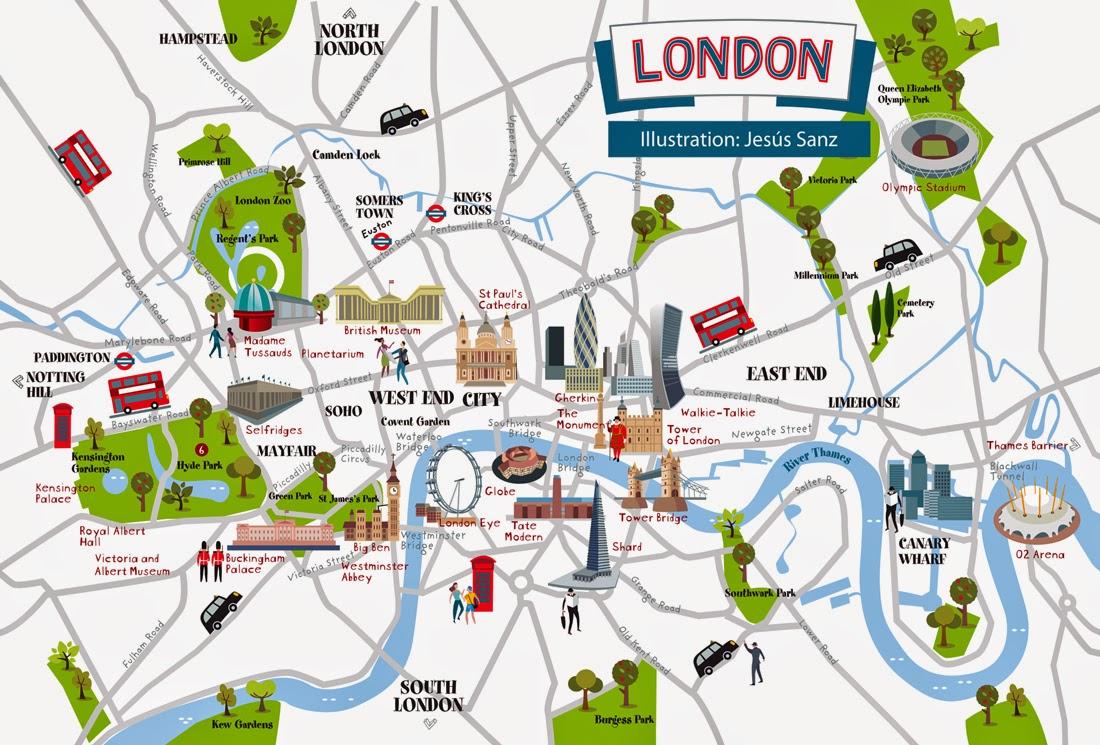 ártica Mapa De Londres