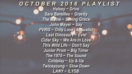 October 2016 Playlist