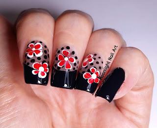 Black Sheer Manicure