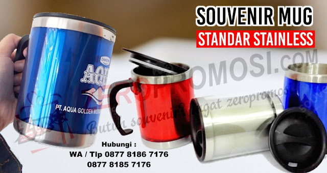 Souvenir Mug Tumbler Stainless, mug standar promosi, souvenir mug stainless