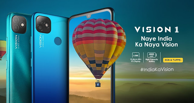 Itel Vision 1 Launched With 6inch HD+ Display, 3GB RAM, 4000mAh Battery For Rs. 6,999/- & More