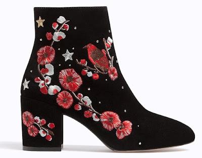 botines de piel bordados de Stradivarius, tendencias de moda 2017, estilismos de moda, blog de moda