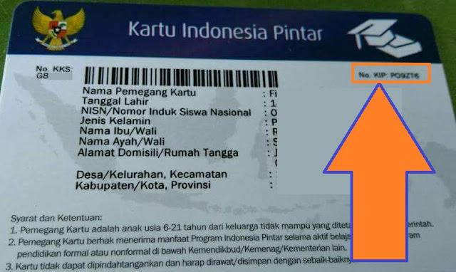 nomor kartu indonesia pintar