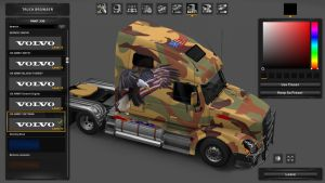 Volvo VNL 670 Military Skin Pack V 1.0