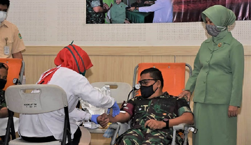 Kodiklat Angkatan Darat Peduli Kemanusian Ditengah Wabah Covid-19