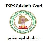 TSPSC Admit Card
