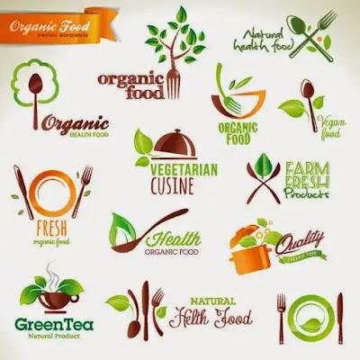 Vectores de logos para restaurantes vegetarianos