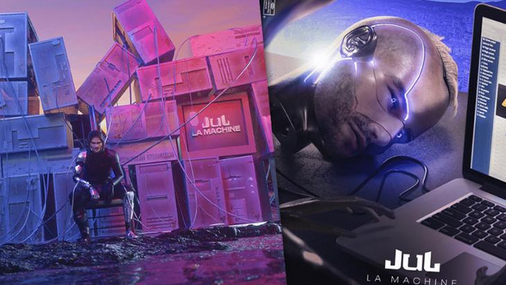 Pour son nouvel album La machine, Jul a fait appel aux internautes pour dessiner sa cover.