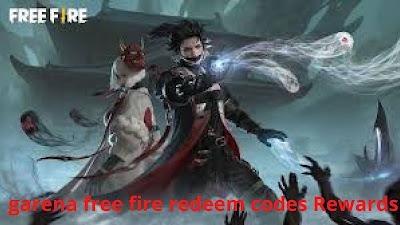 garena free fire redeem codes Rewards