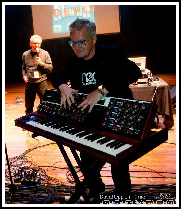 Mark Mothersbaugh of Devo at MoogFest Moog Innovation Award Ceremony