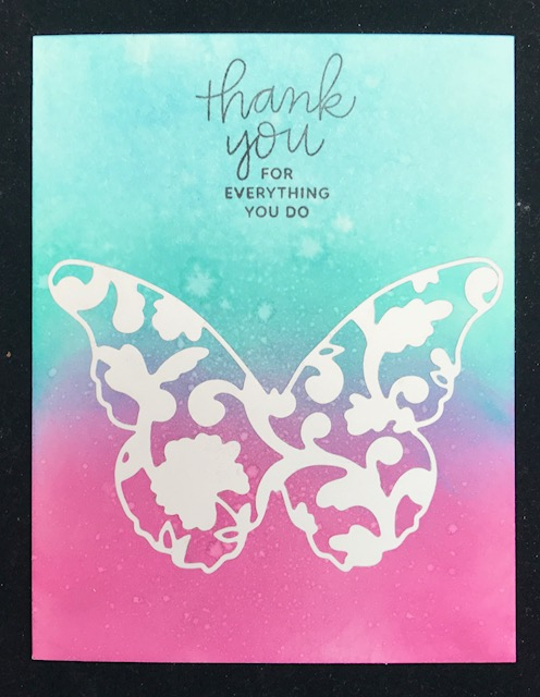 Granny Cats Crafts Butterfly Thank You card - butterfly thank you cards