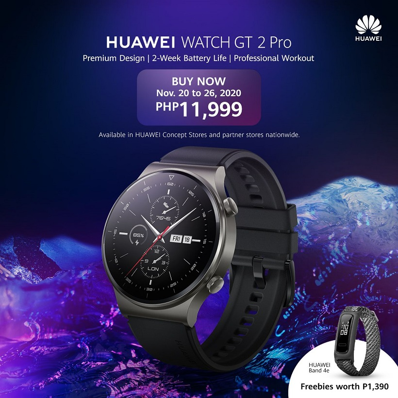 HUAWEI Watch GT 2 Pro now available for PHP 11,999