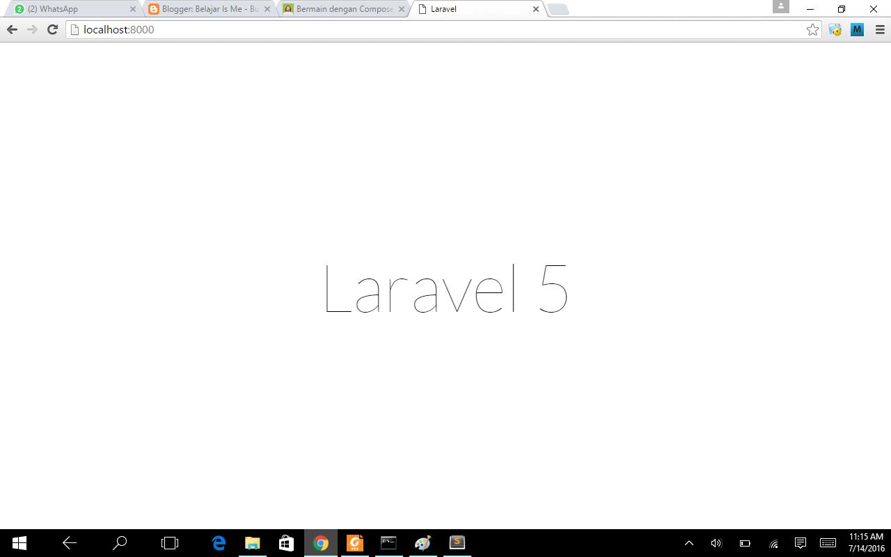 Cara Install Laravel ~ Belajar Is Me