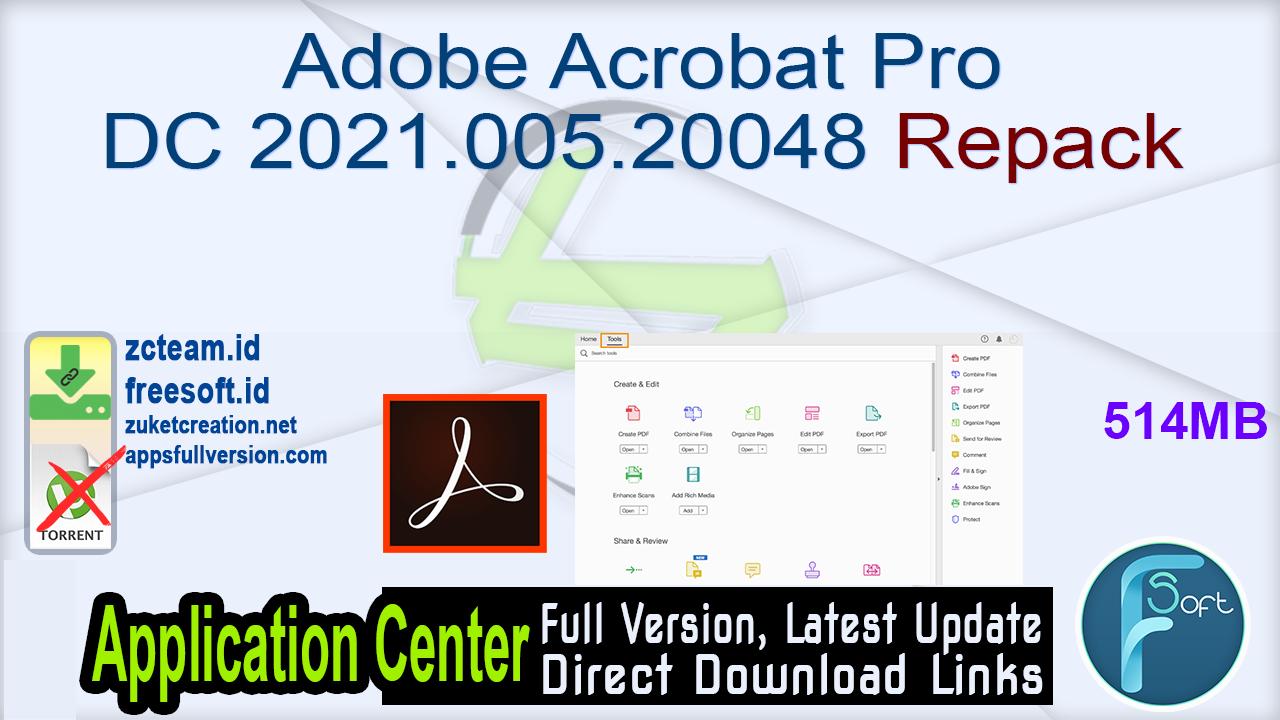 Adobe Acrobat Pro DC 2021.005.20048 Repack