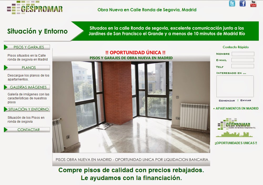 Compra venta de inmuebles pisos y garajes de obra nueva en madrid facilidades de pago - Pisos de obra nueva en madrid ...