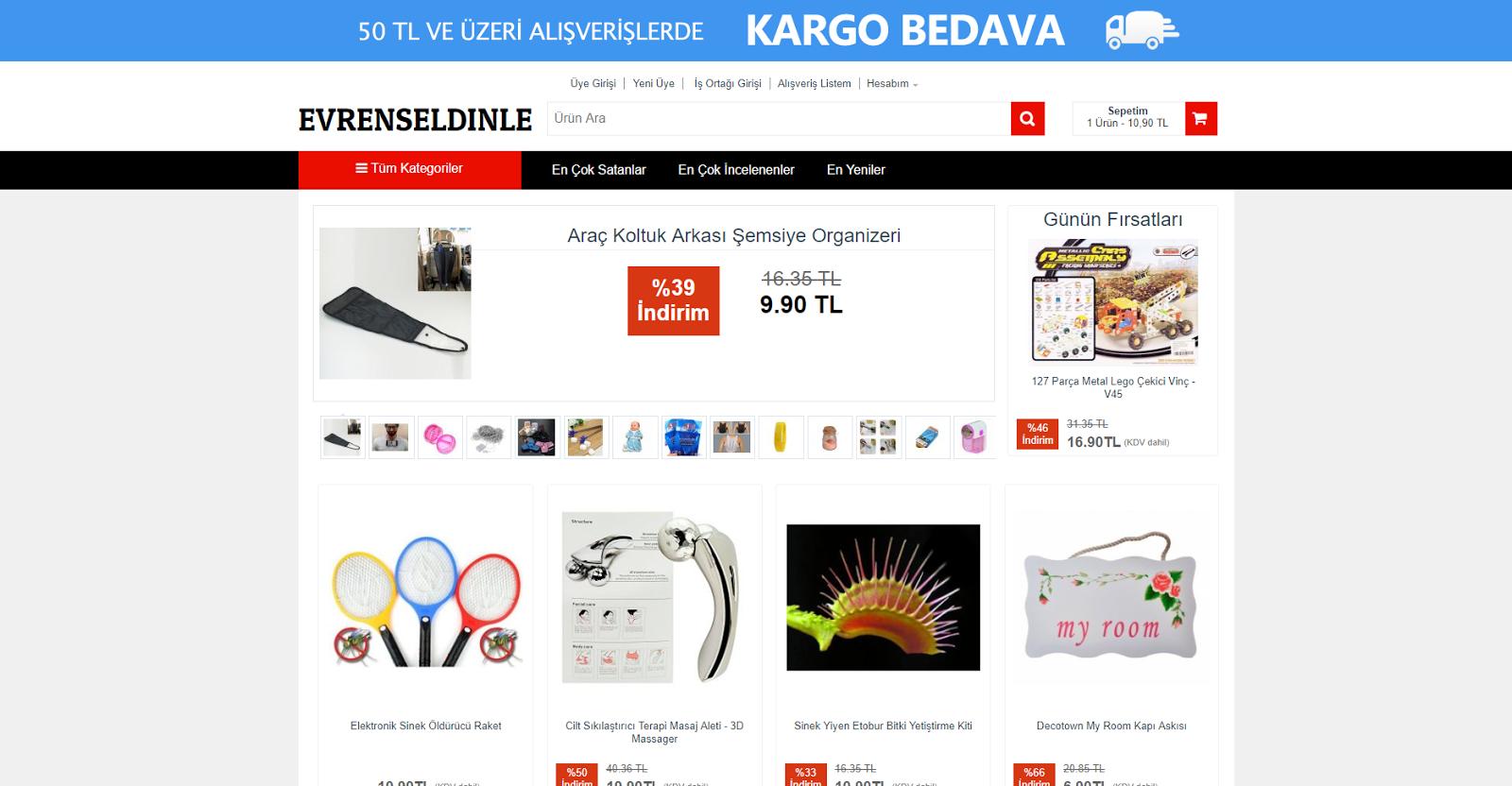 Evrensel Dinle Online mağaza alışveriş sitesi