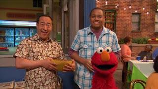 Chris, Alan, Elmo, Sesame Street Episode 4417 Grandparents Celebration season 44