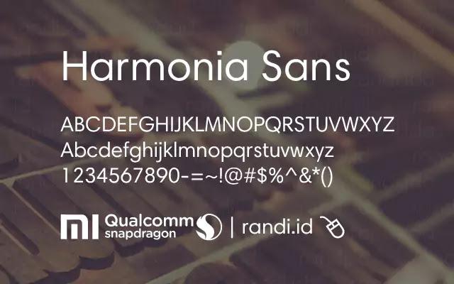 Harmonia Sans Unicode Font