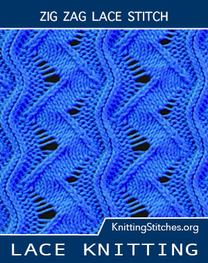 Free instructions for Knitting the Zig Zag Stitch. Free Knitting Stitches. Free Knitting Patterns.
