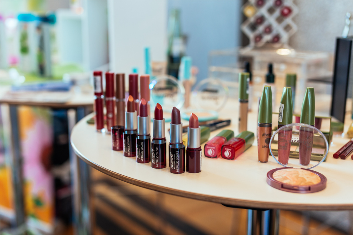 "beautypress ""Green cosmetics"" Naturkosmetik Bloggerevent - alverde Naturkosmetik Make & Lippenstife"