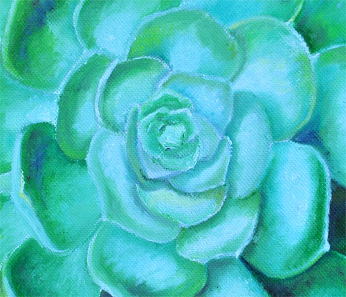 oil painting succulent