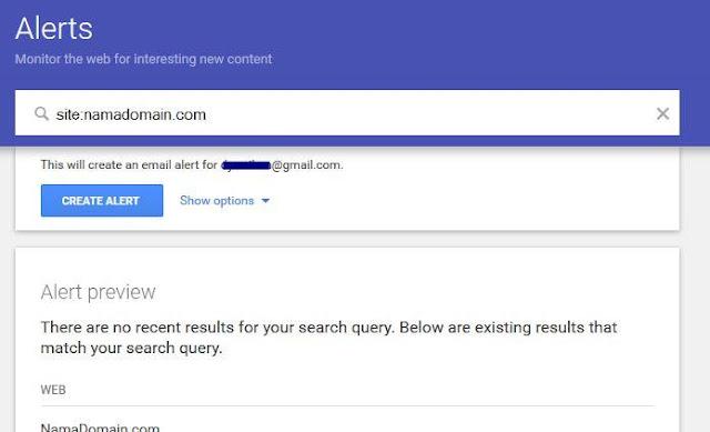 Cara Menentukan Konten yang Berkualitas dengan Google Alert1