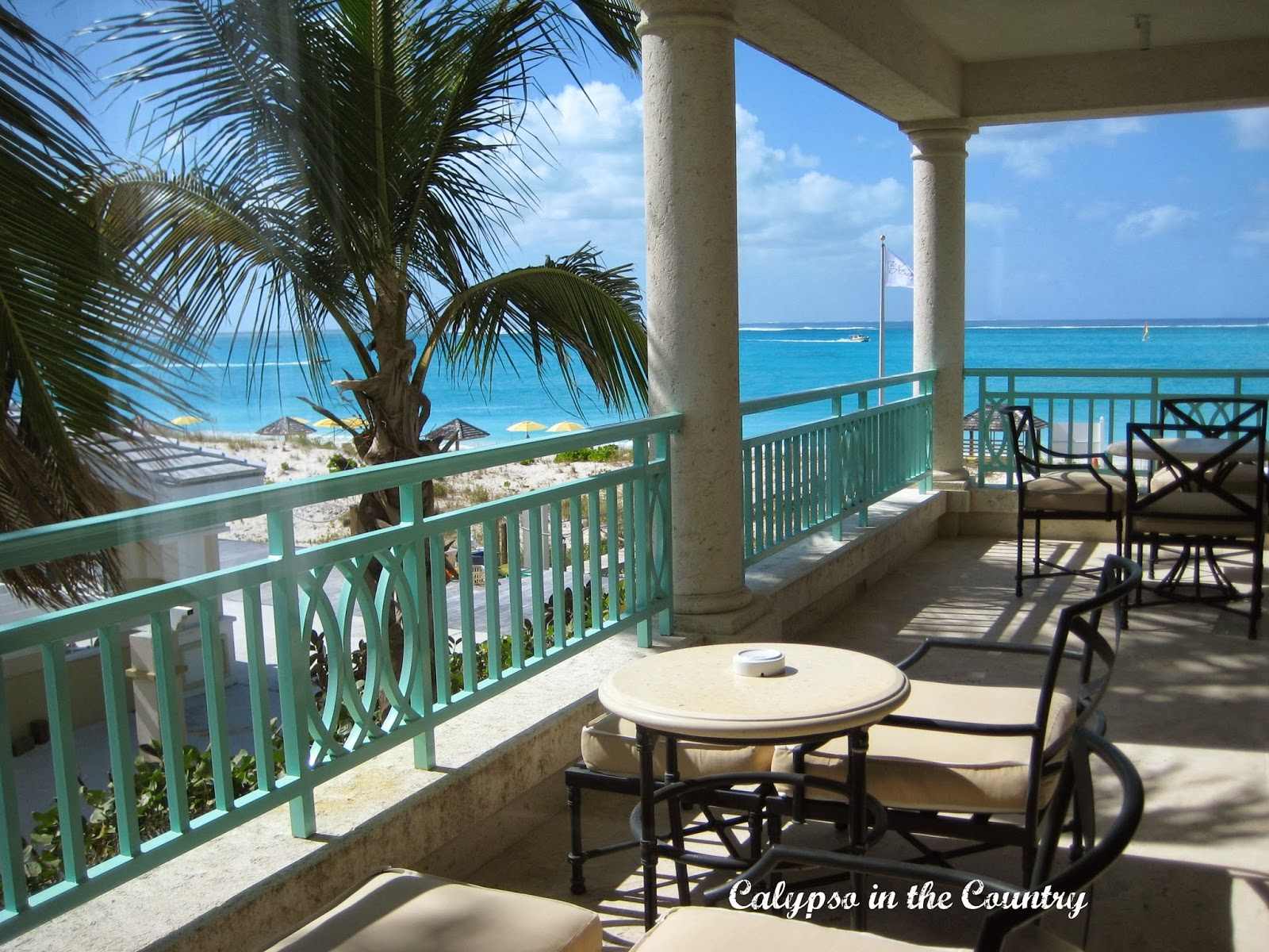 Balcony at the Palms Turks and Caicos