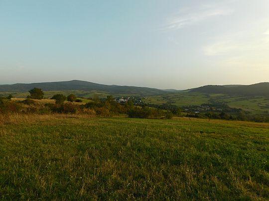 Widok z węgierskiego traktu na południe.