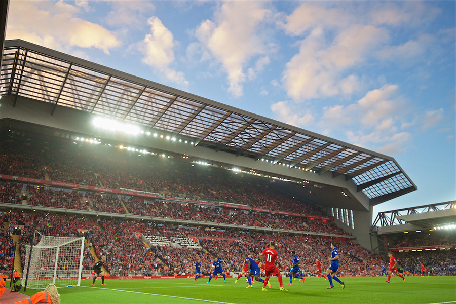 anfield main stand liverpool leicester