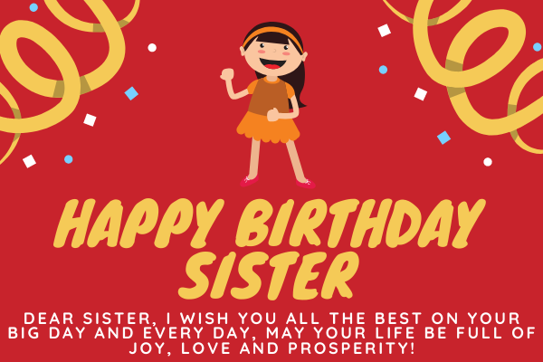 Funny Messages for Sister's Birthday