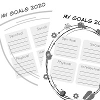 Free goal setting printables from Simply Family Home Evening - b&w