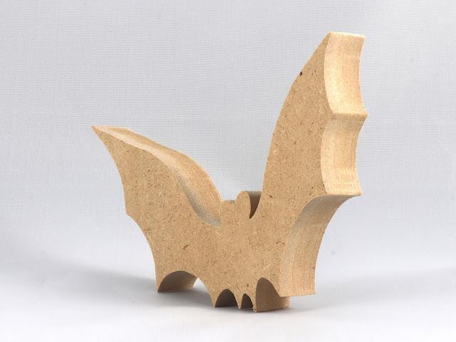 Handmade Halloween Bat Cutout - Wood Animal