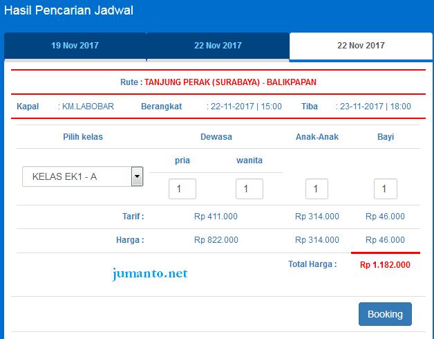 cara beli tiket kapal laut online