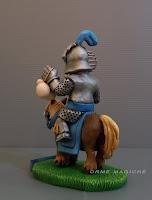 Statuetta cavaliere da logo