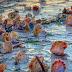 Sangkaterbang seashells, lumutang sa Boracay seashore