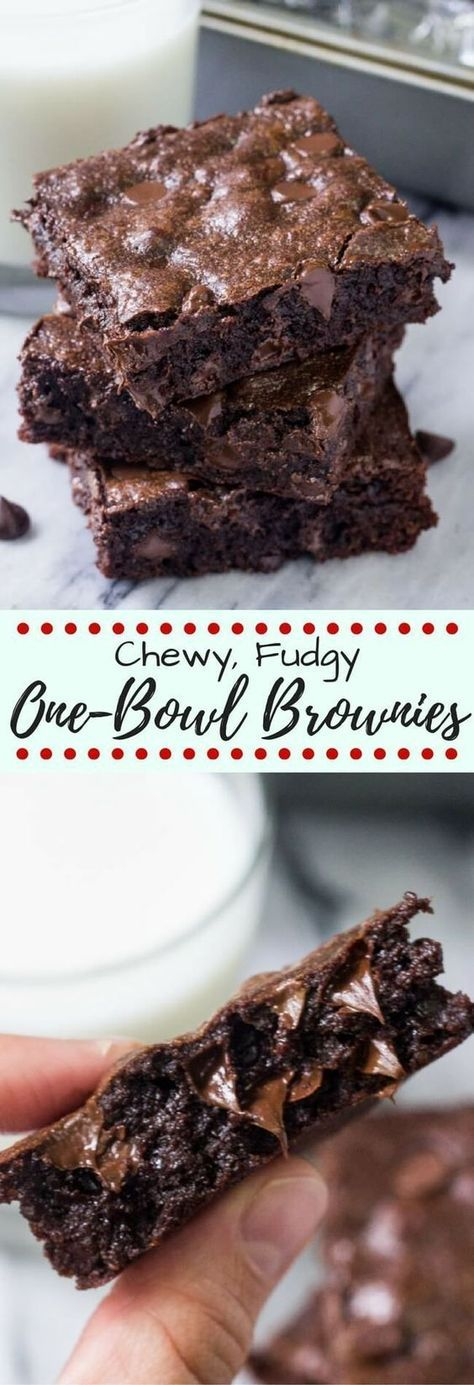 One Bowl Chewy Browníes