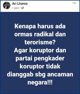 Netizen: Jualannya Isu Teroris, Radikal, Intoleran.. Ternyata Koruptor