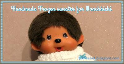 kiki Monchhichi handmade fait main tricot knitting clothes doll poupée frozen