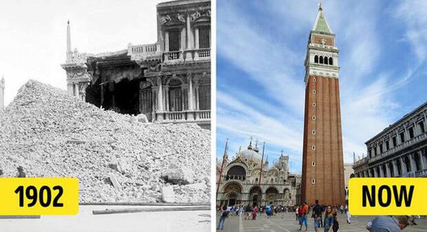 Tháp chuông của nhà thờ nổi tiếng tại thành phố Venice (Ý) này đã mang đến những background check-in tuyệt đẹp cho du khách trong nhiều thế kỷ. Tuy nhiên ít ai biết rằng vào ngày 14/7/1902, điểm trình diễn kính viễn vọng Galileo của nhà thờ đã bị sụp đổ do tình trạng bảo tồn kém. Sau đó nó mới được khôi phục và khánh thành trở lại vào năm 1912 để du khách ghé thăm.