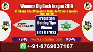 WBBL 2019 BHW vs ASW 20th Match Prediction Today Womens Big Bash League 2019