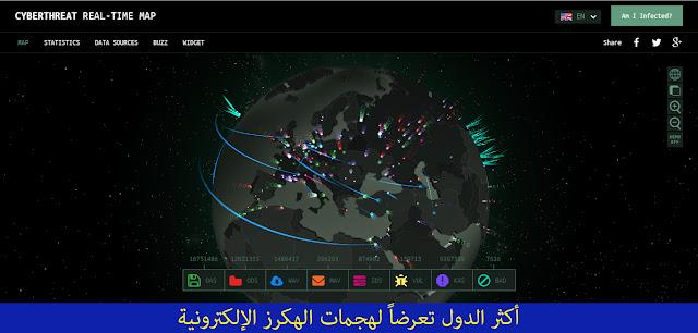 أكثر الدول تعرضاً لهجمات الهكرز الإلكترونية