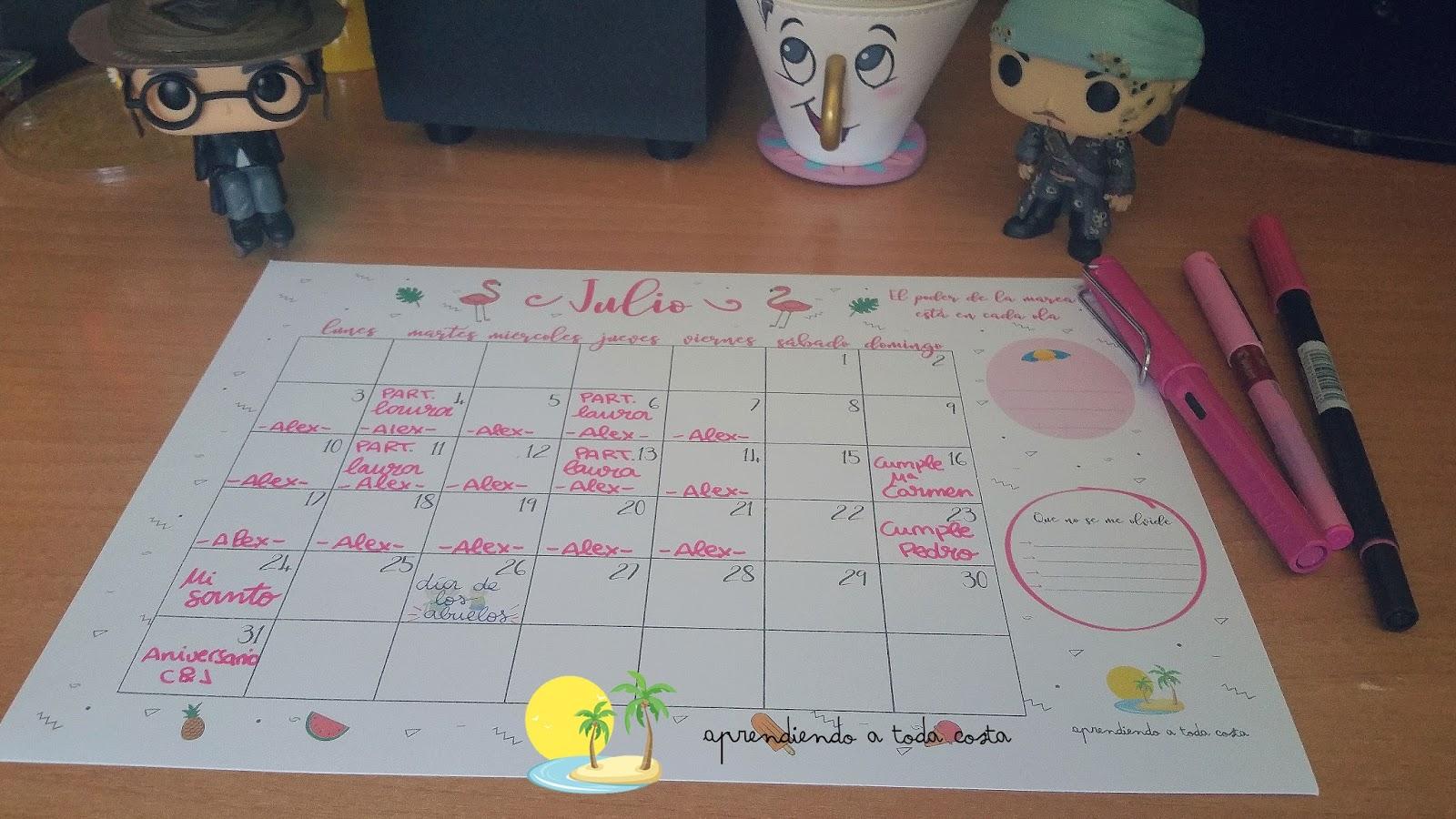 Imagen general calendario - Harry, Will y Chip