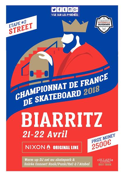 Championnat de France Skateboard Biarritz 2018