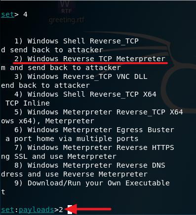 windows reverse tcp meterpreter