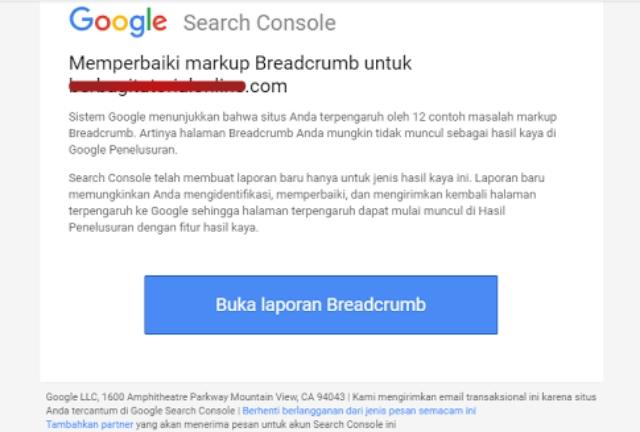 Cara Mengatasi Masalah Breadcrumb Data-vocabulary.org di Search Console