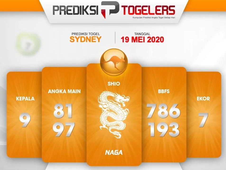 Prediksi Sydney Selasa 19 Mei 2020 - Prediksi Togelers